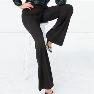 CABI Chance Wide Leg Trousers Black Large Long